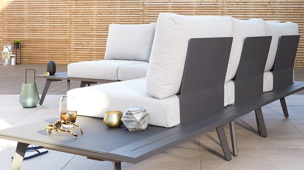 Modern lounging garden furniture