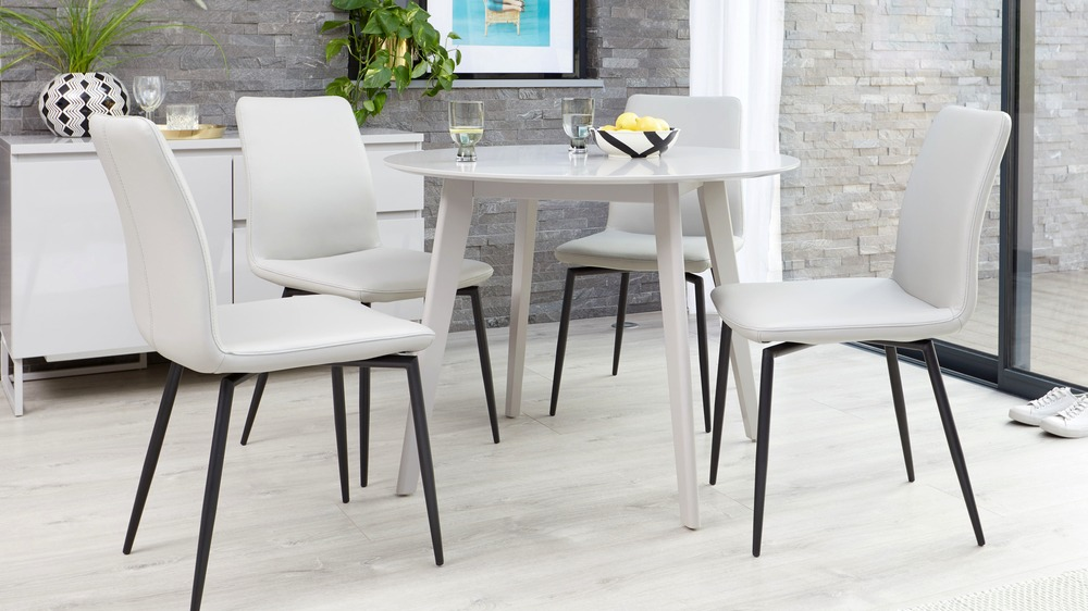 good value leather dining chairs