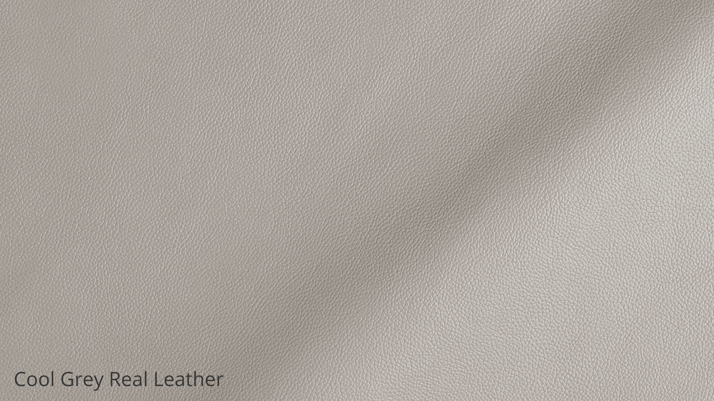 Light grey leather dining chairs