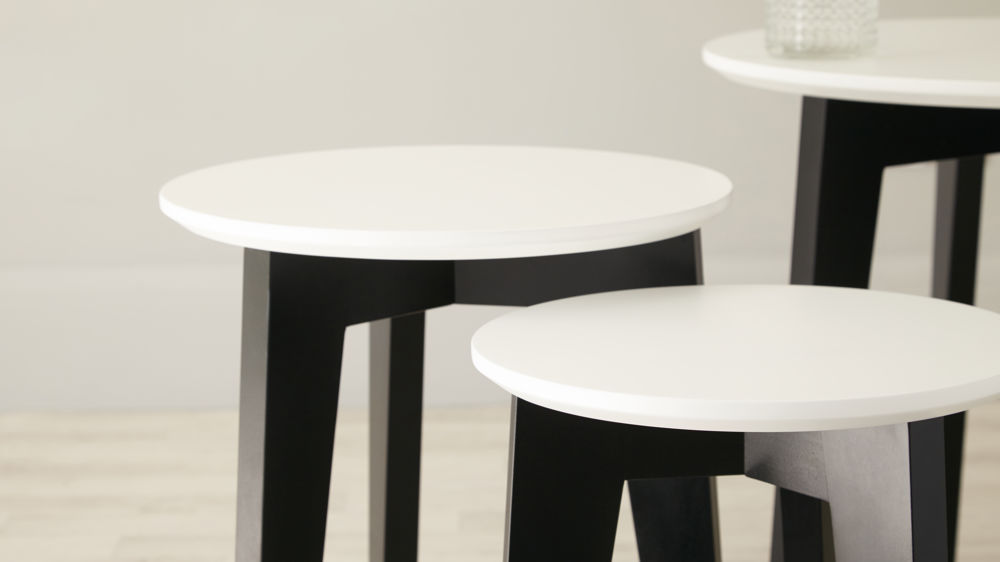 Black and White Nest of Tables UK Delivery