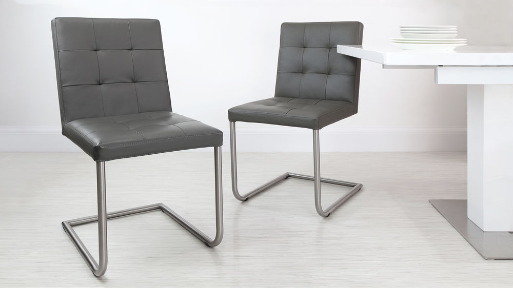 Real Leather Swing Dining Chairs