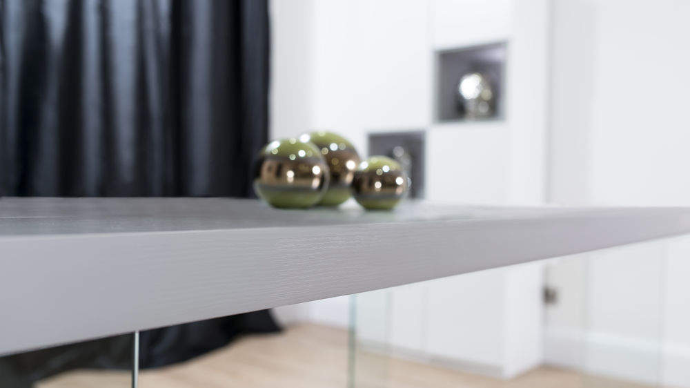 Floating and Tempered Glass Dining Table