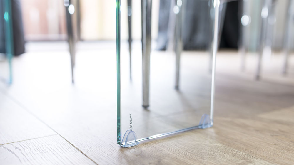 Strong Glass Legged Dining Table