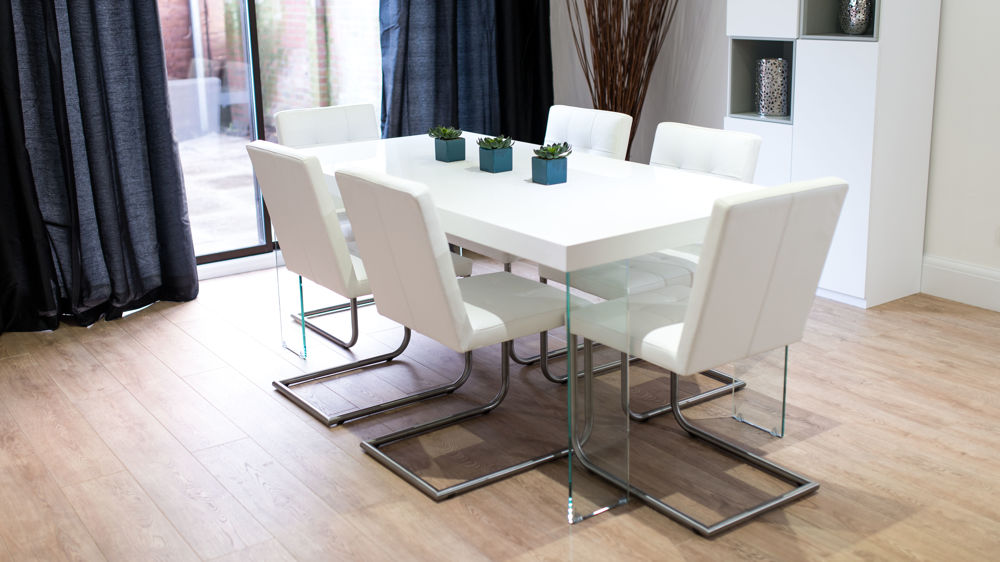 White Gloss Dining Sets UK