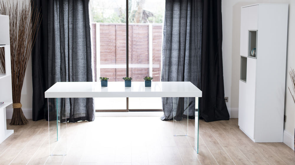 Large White Glossy Dining Table UK