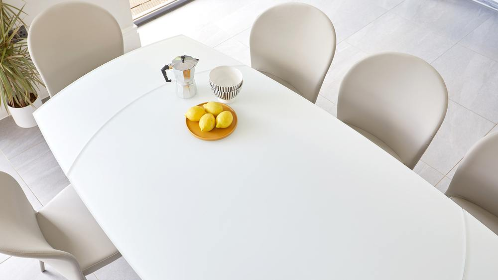 frosted glass tables
