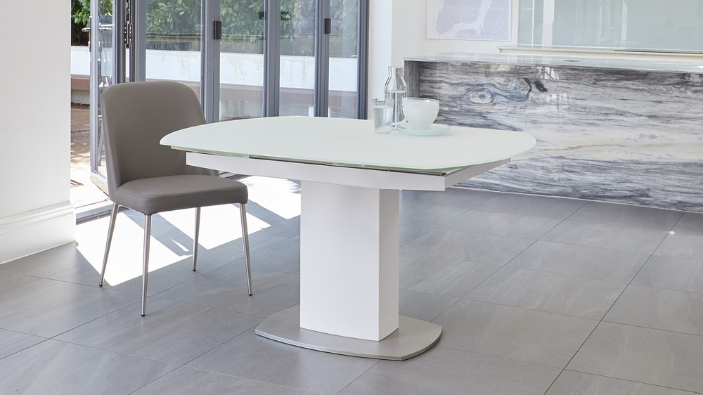 white extending table