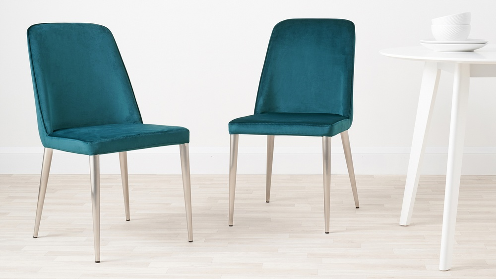 teal velvet chairs