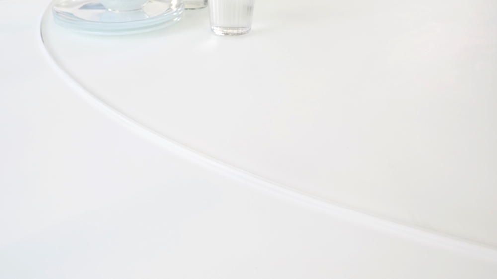 frosted glass dining tables