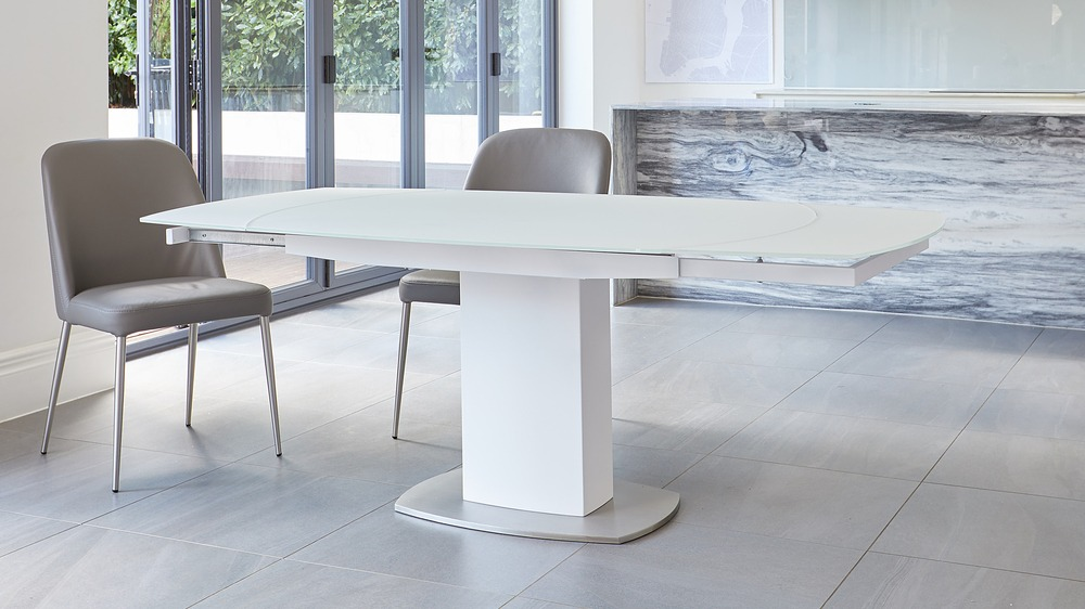 stainless steel base extending table