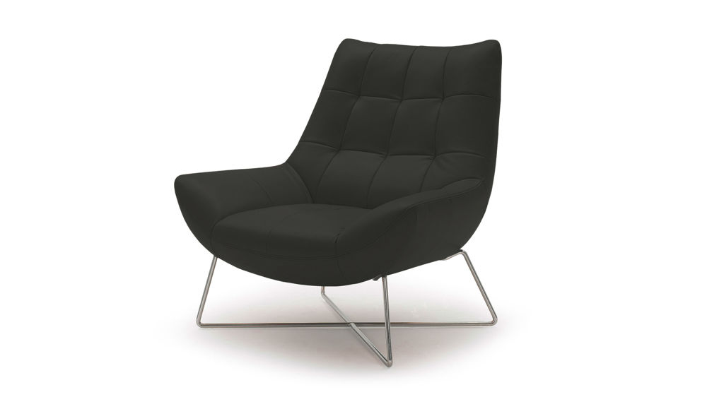 Black Quilted Arm Chair