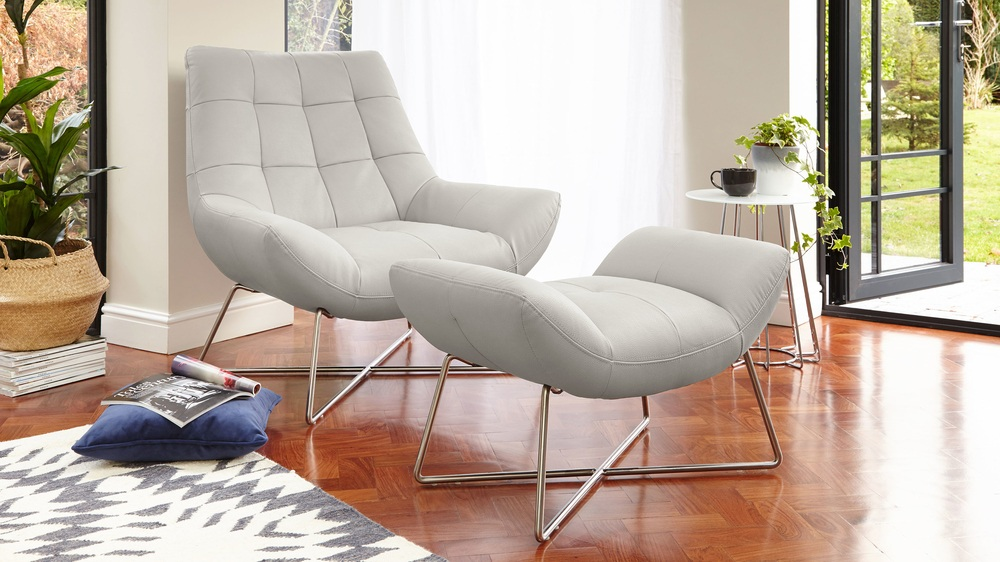 Large occasional chair cool grey