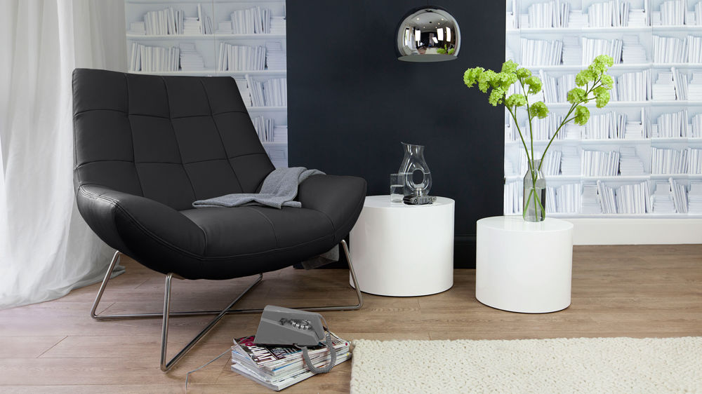 Modern Black Lounge Chair