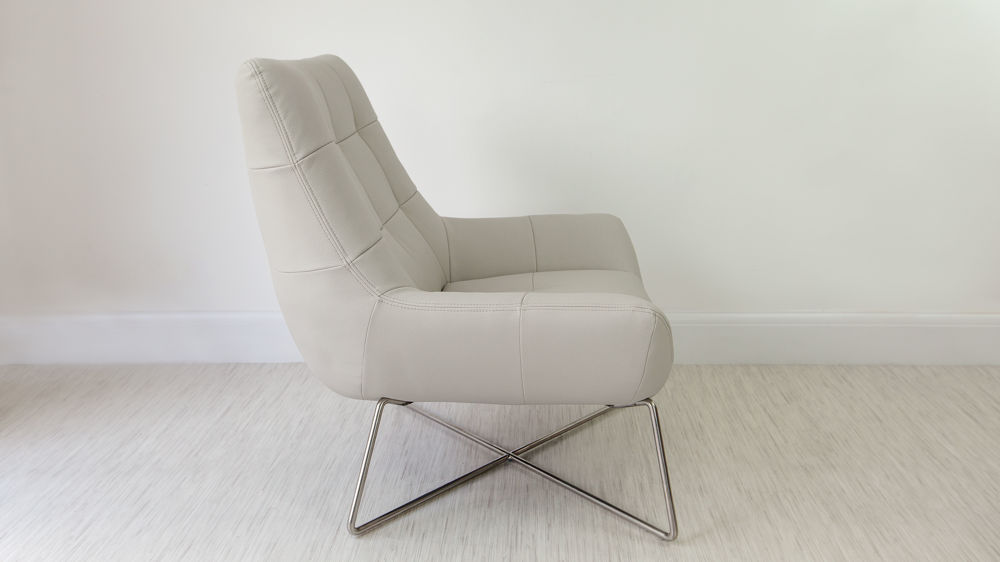 Wide Grey Lounge Chair