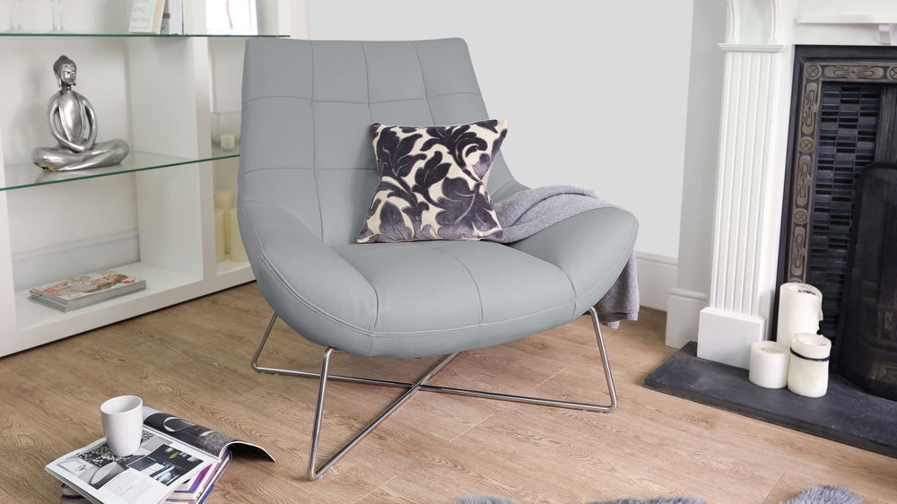 Light Grey Occasional Arm Chair