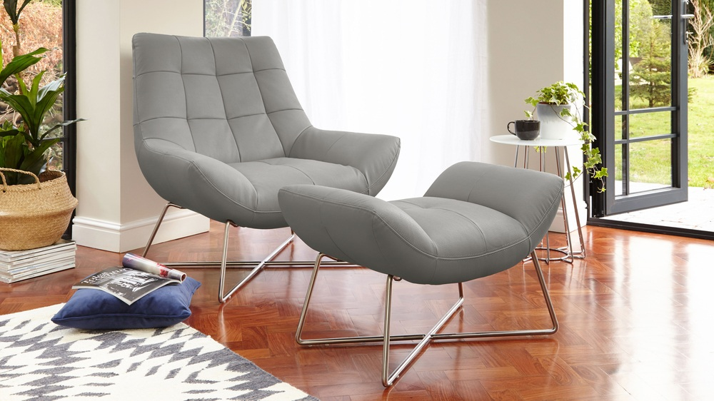 occasional chair with foot stool