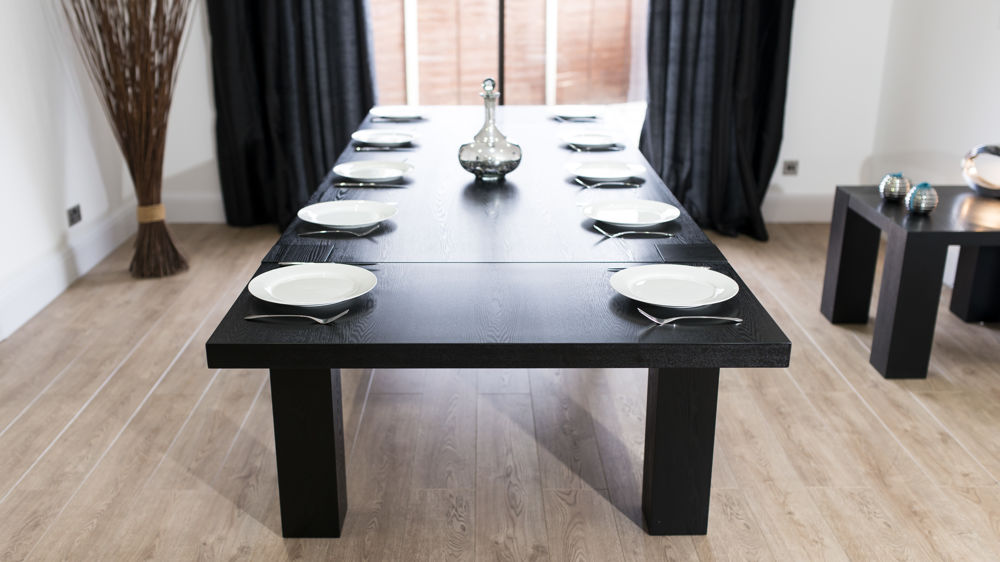 Extending Black Ash Dining Table