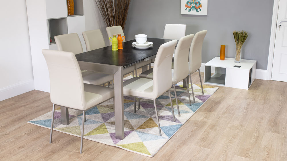 Home dining sets extending dining sets casa black ash extending and