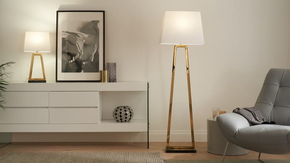 Buy brass floor lamps