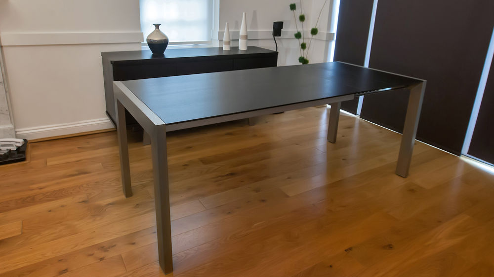 Extending Dining Table with Metal Legs