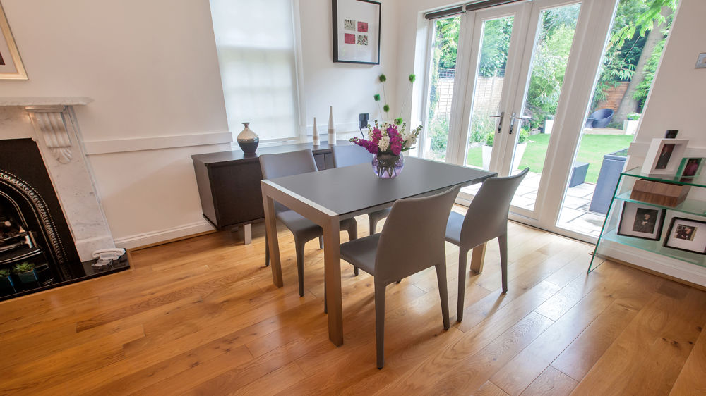 4-8 Seater Matt Black Dining Table and Leather Dining Chairs
