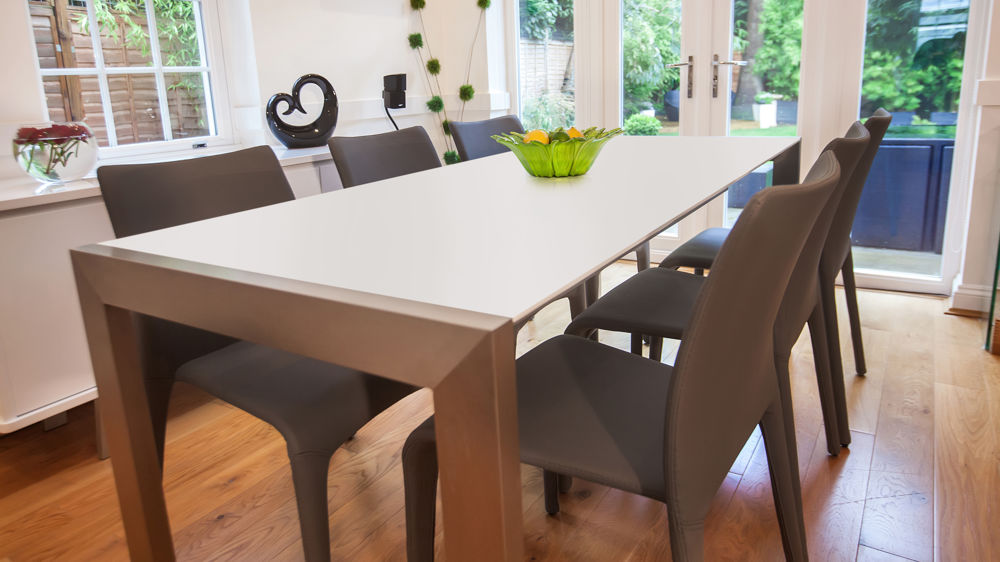 Stackable Dining Chairatt White Extending Table