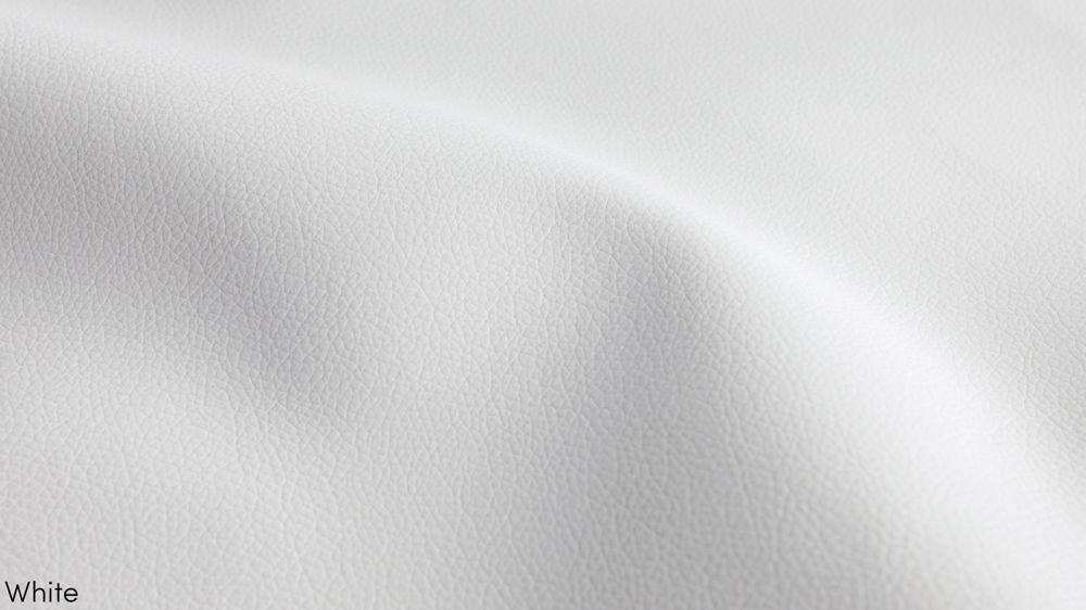 White Faux Leather