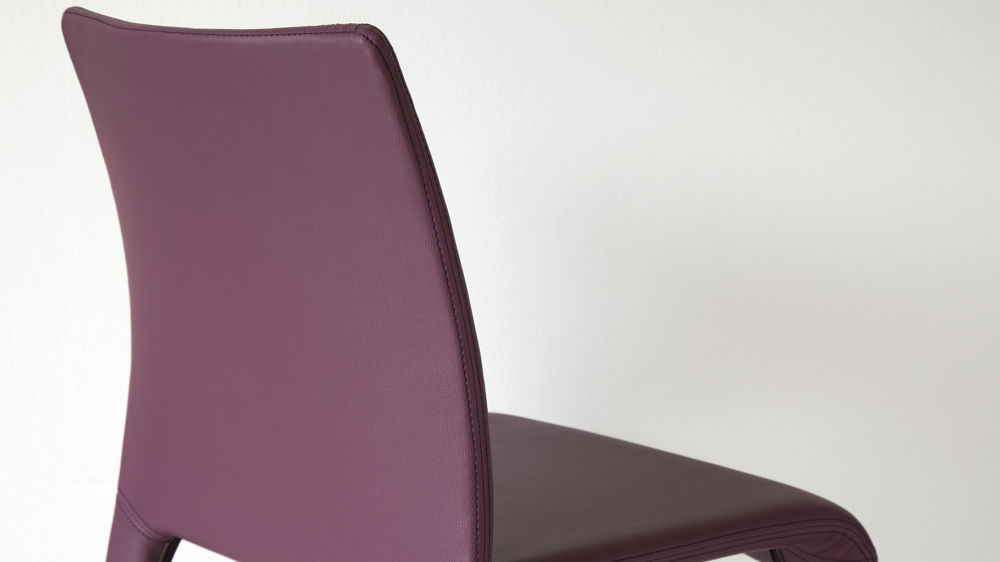 Purple Dining Chair Faux Leather UK