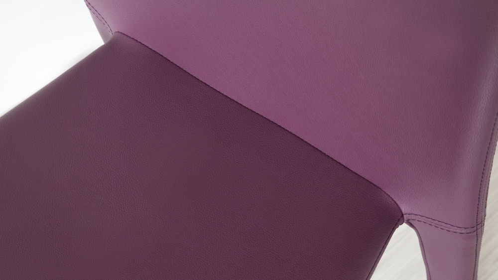Purple Modern Dining Chair Faux Leather