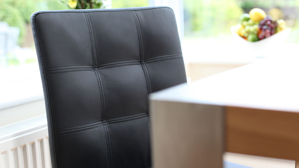 Black Quilted Leather Dining Chairs UK