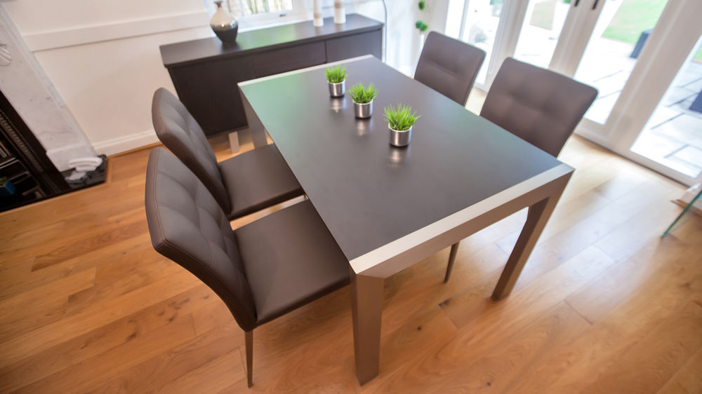 Trendy Wenge Extending Dining Table And Funky Quilted