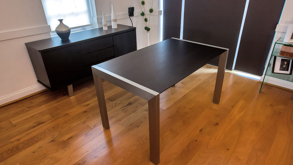 Wenge Dark Wood Extending Dining Table
