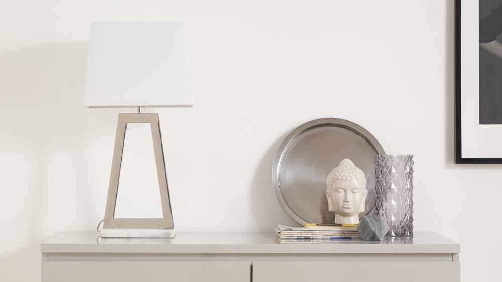 Chrome small table lamp
