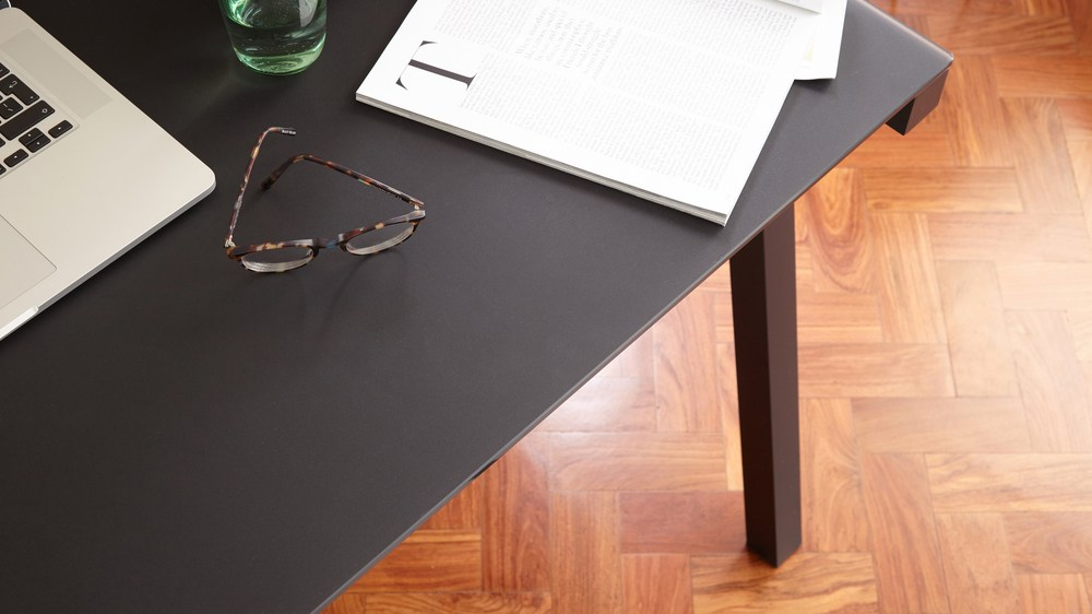 High Quality Black Matt Glass Desk