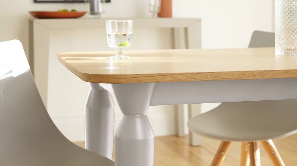 dining table for a grey kitchen