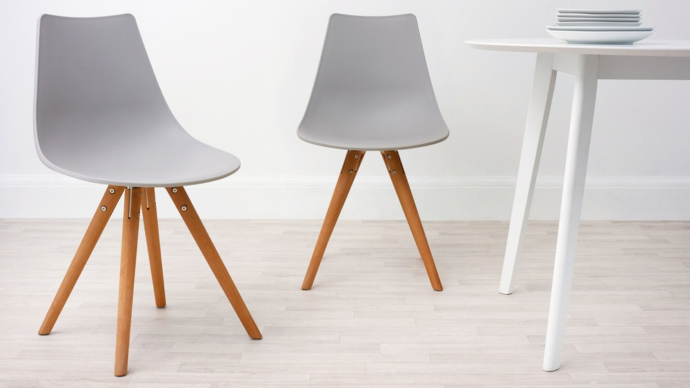 Light Grey Modern Plastic Dining Chair