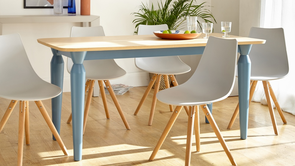 Colourful modern dining set seat seats six