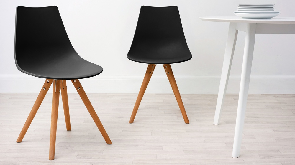 Black Modern Plastic Dining Chair