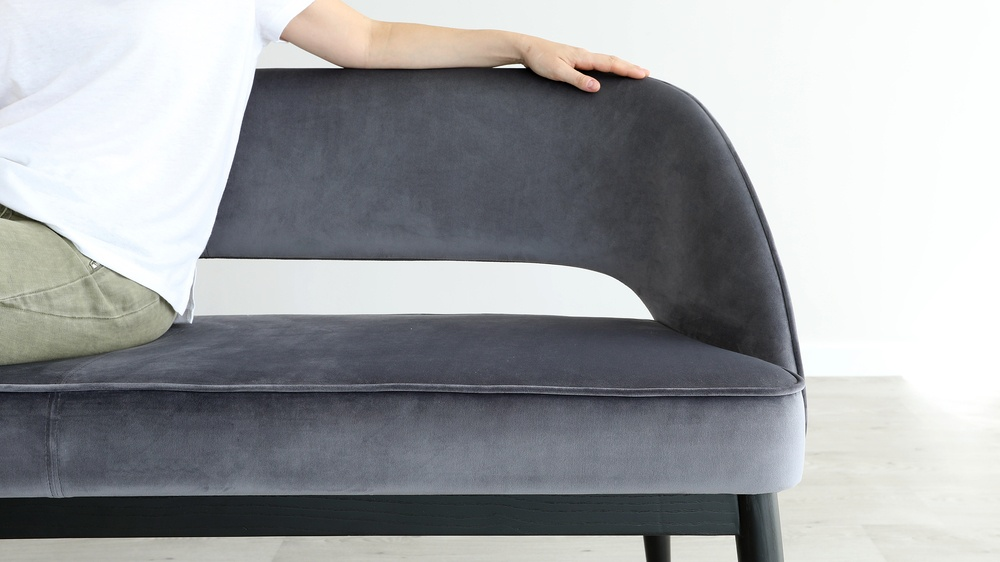dining bench with backrest