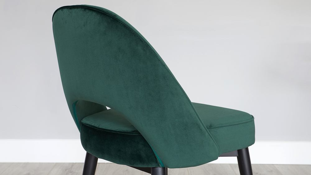 dark velvet dining chair