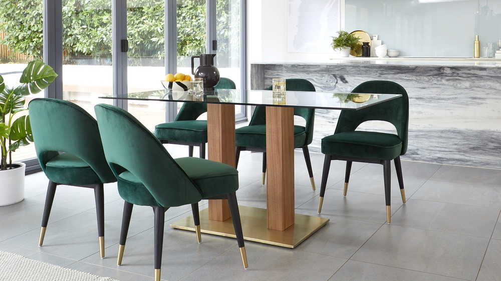 dark green velvet furniture
