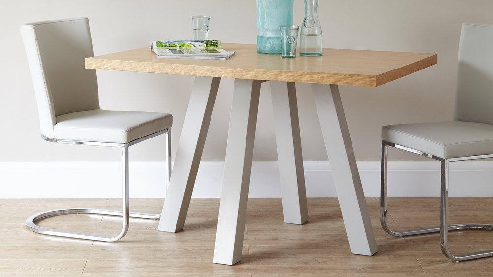 Cross And Form 4 Seater Wooden Dining Table 4 Seater Set