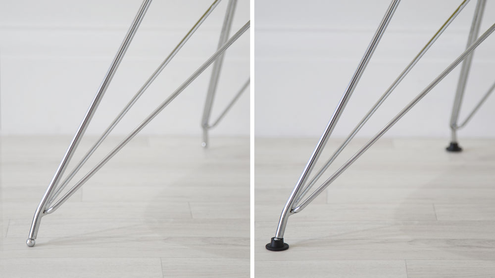 Chrome Legged Dining Chairs
