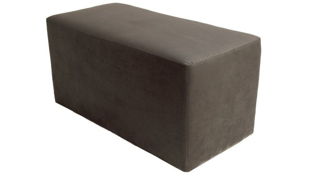 Modern Brown Suede Bench