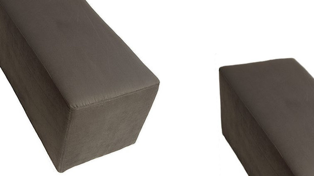 Modern Suede Large Bench