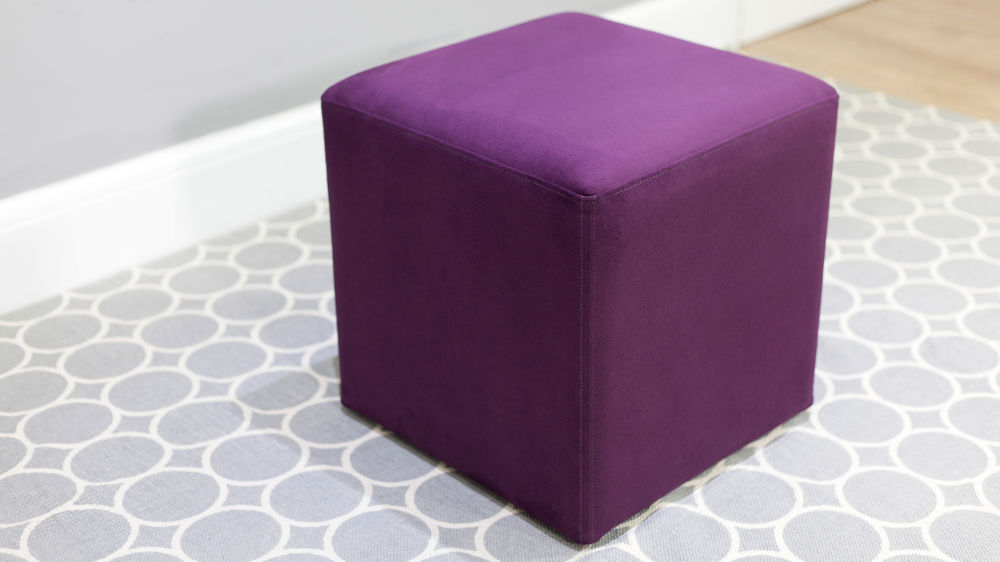 Modern Purple Cube Stool