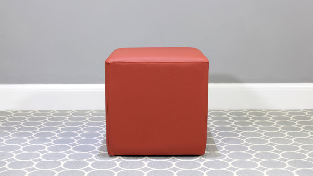 Comfortable Orange Cube Stool