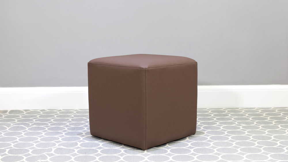 Brown Leather Dresser Stool