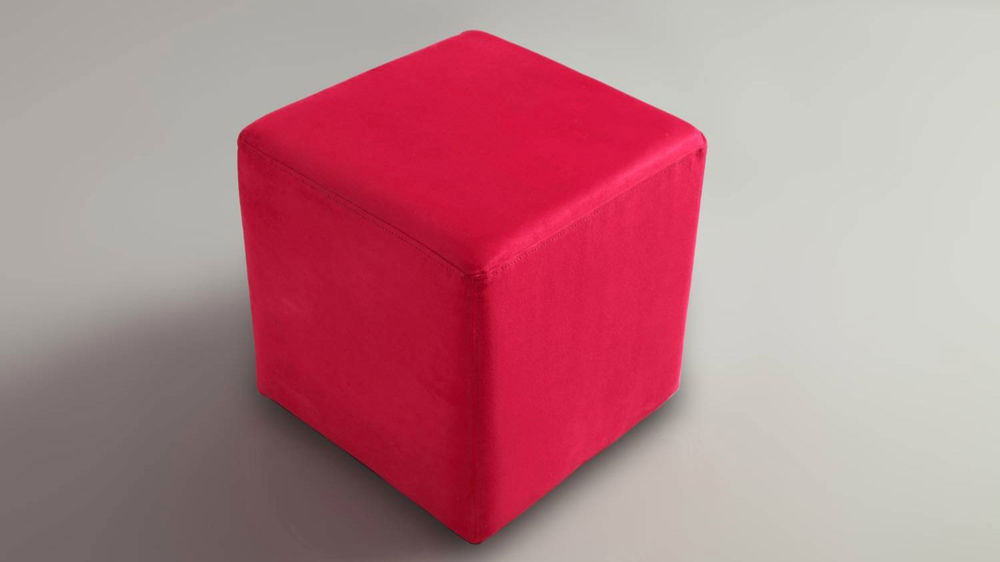 Modern Cube Stool Commercial Seating Hard Wearing