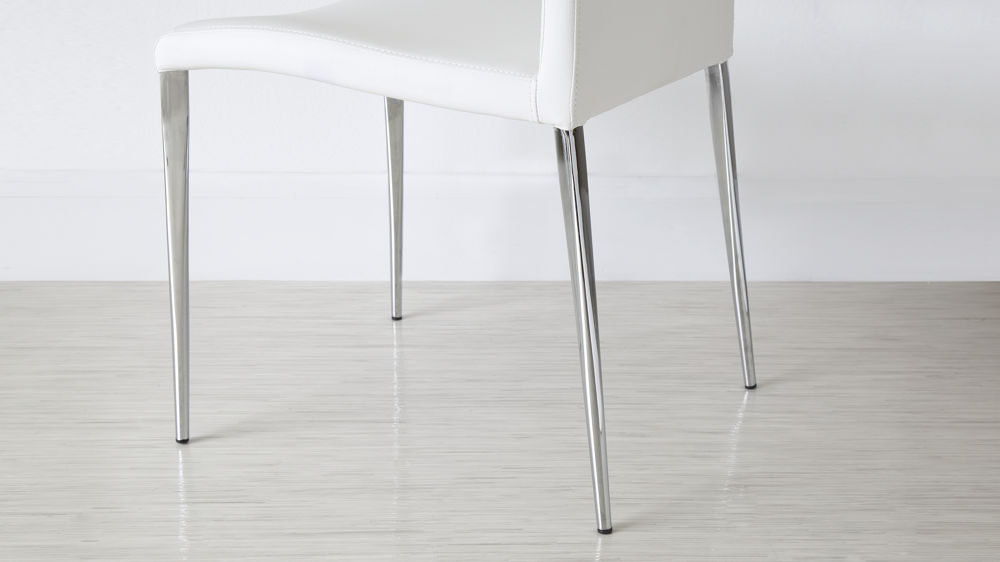 Dining Chair with Chrome Legs with Floor Protectors